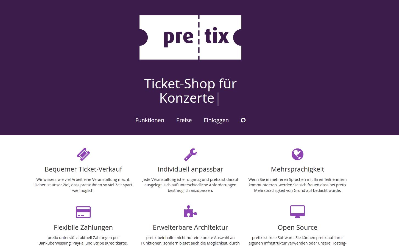 Unser Ticketsystem Pretix