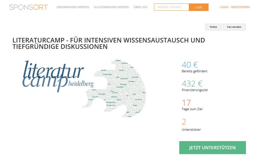 Sponsort: Fifty-fifty als Prinzip auch beim Literaturcamp