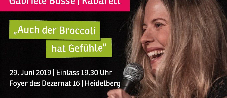 """Abendveranstaltung am 29.06. mit Gabriele Busse: """"Auch der Broccoli hat Gefühle"""""""
